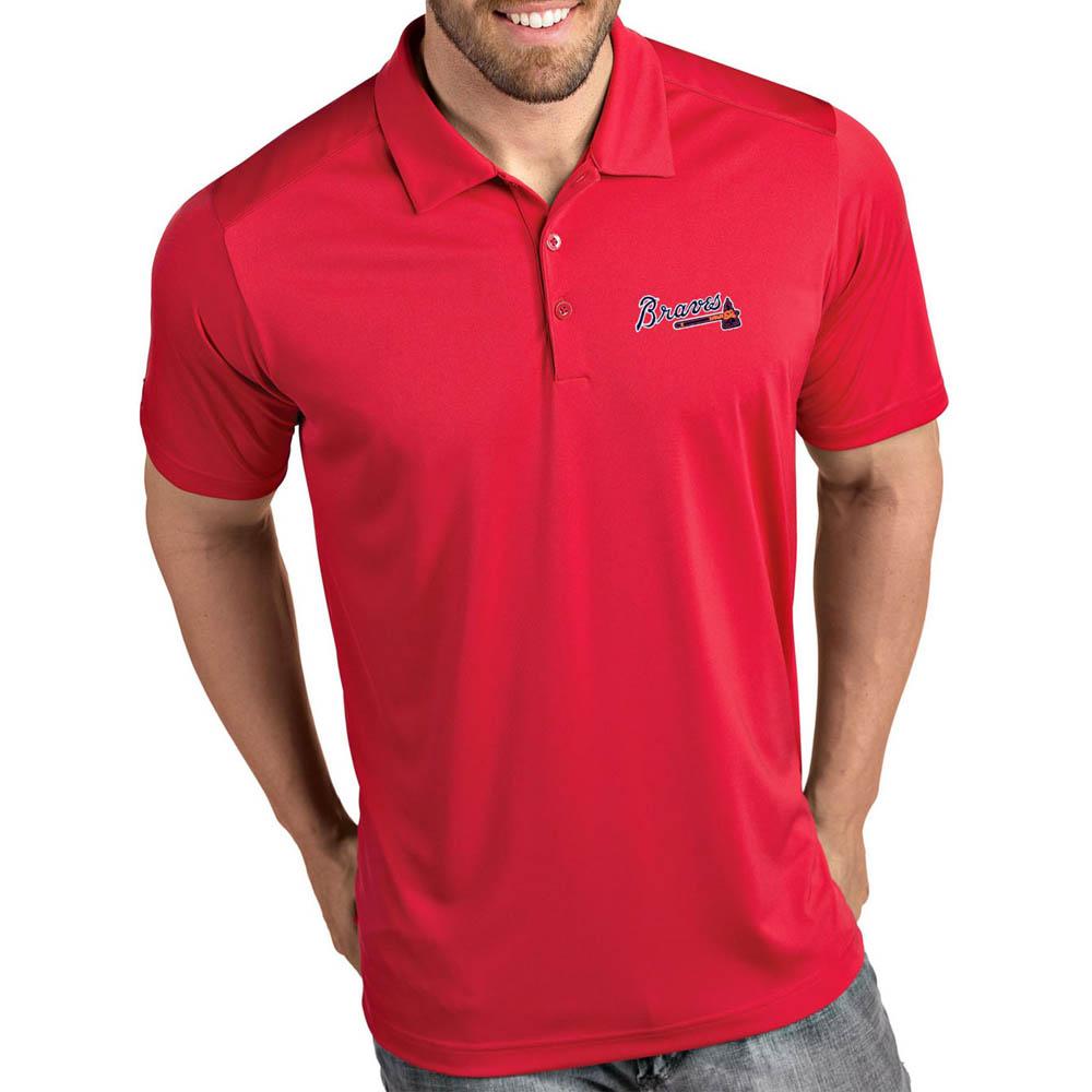 MLB ブレーブス ポロシャツ トリビュート パフォーマンス メンズ Antigua レッド