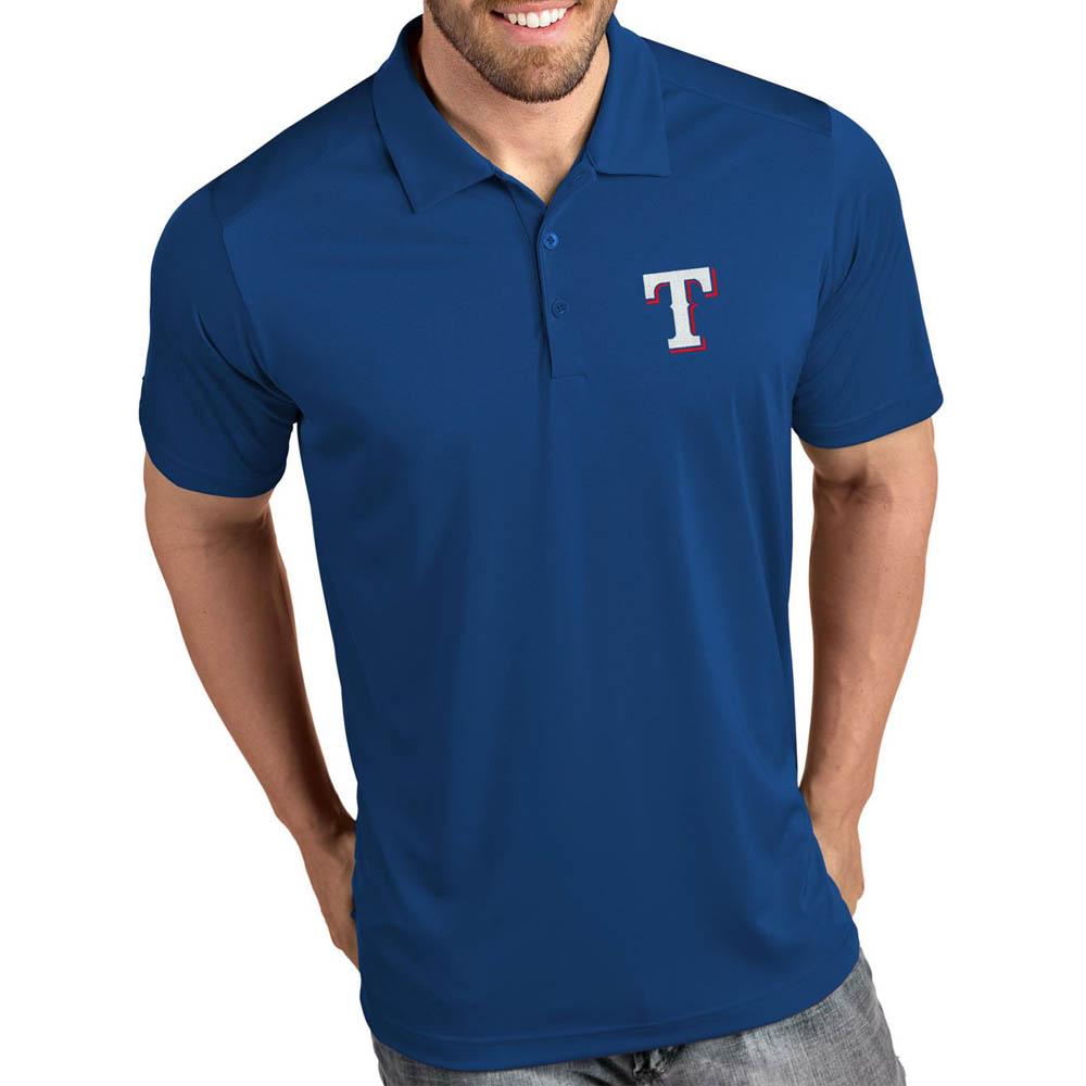 MLB レンジャーズ ポロシャツ トリビュート パフォーマンス メンズ Antigua ロイヤル