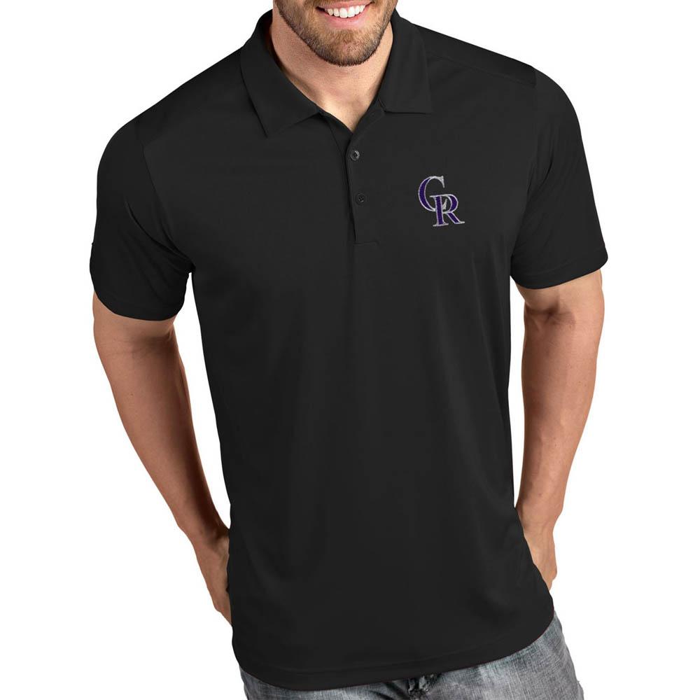 MLB ロッキーズ ポロシャツ トリビュート パフォーマンス メンズ Antigua ブラック