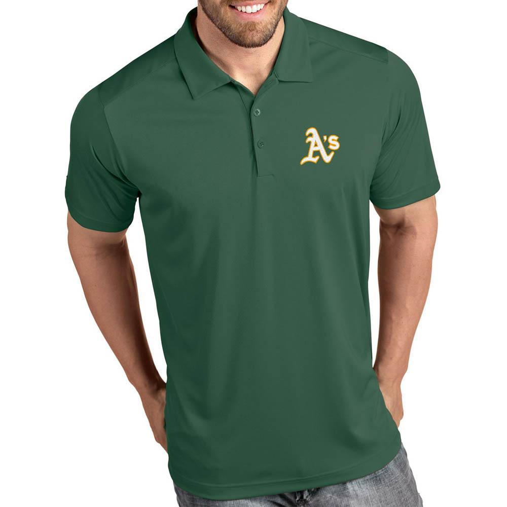 MLB アスレチックス ポロシャツ トリビュート パフォーマンス メンズ Antigua グリーン