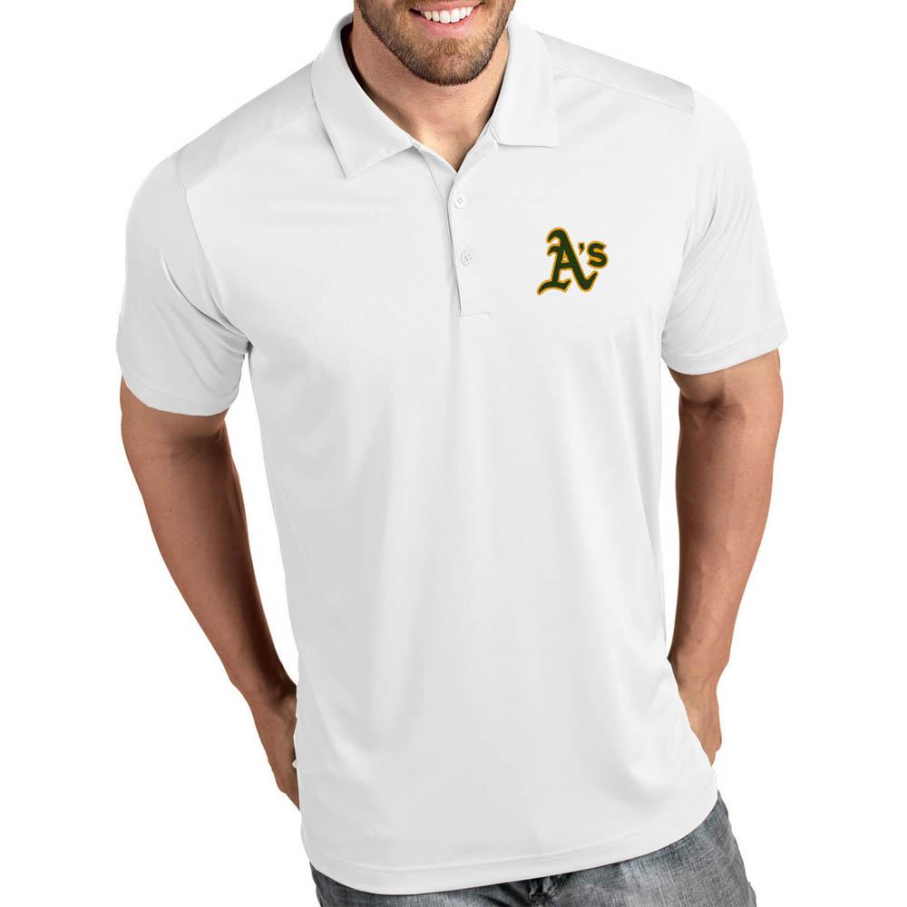 MLB アスレチックス ポロシャツ トリビュート パフォーマンス メンズ Antigua ホワイト