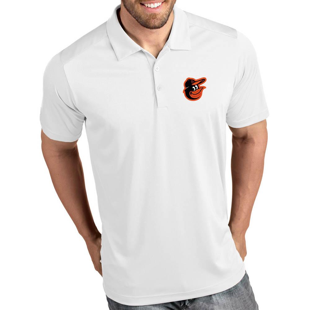 お取り寄せ MLB オリオールズ ポロシャツ トリビュート パフォーマンス メンズ Antigua ホワイト