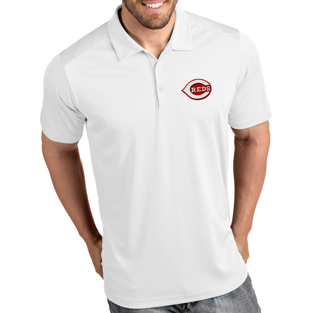 MLB レッズ ポロシャツ トリビュート パフォーマンス メンズ Antigua ホワイト