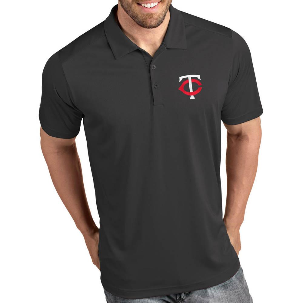 お取り寄せ MLB ツインズ ポロシャツ トリビュート パフォーマンス メンズ Antigua グレー