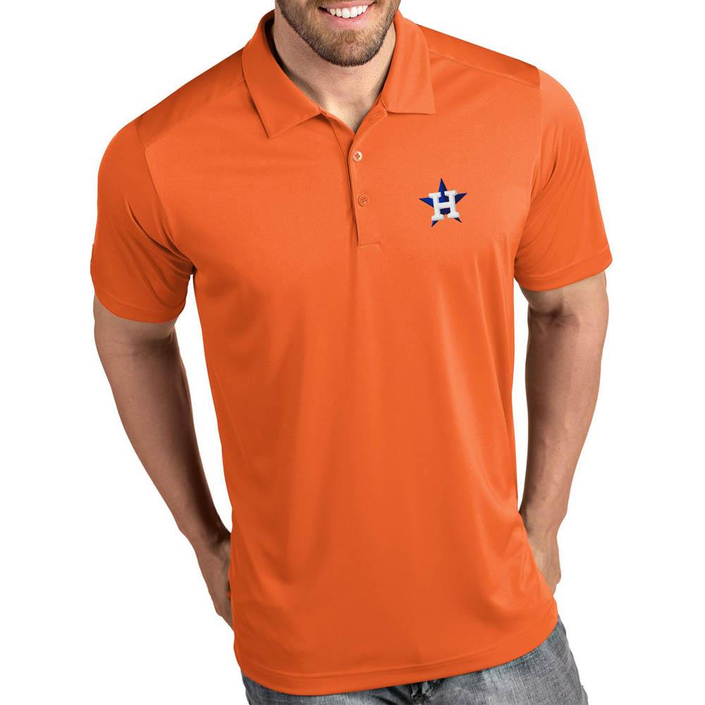 お取り寄せ MLB アストロズ ポロシャツ トリビュート パフォーマンス メンズ Antigua オレンジ