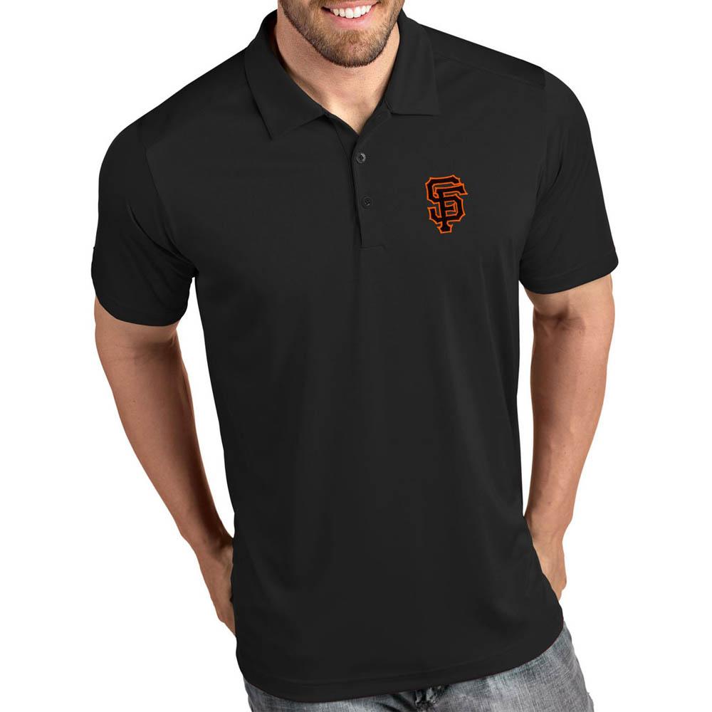 お取り寄せ MLB ジャイアンツ ポロシャツ トリビュート パフォーマンス メンズ Antigua ブラック