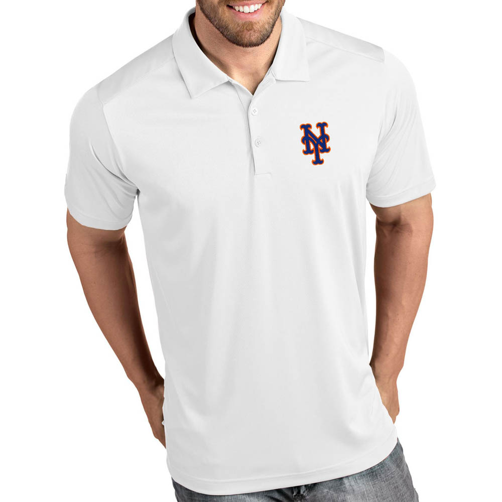 お取り寄せ MLB メッツ ポロシャツ トリビュート パフォーマンス メンズ Antigua ホワイト