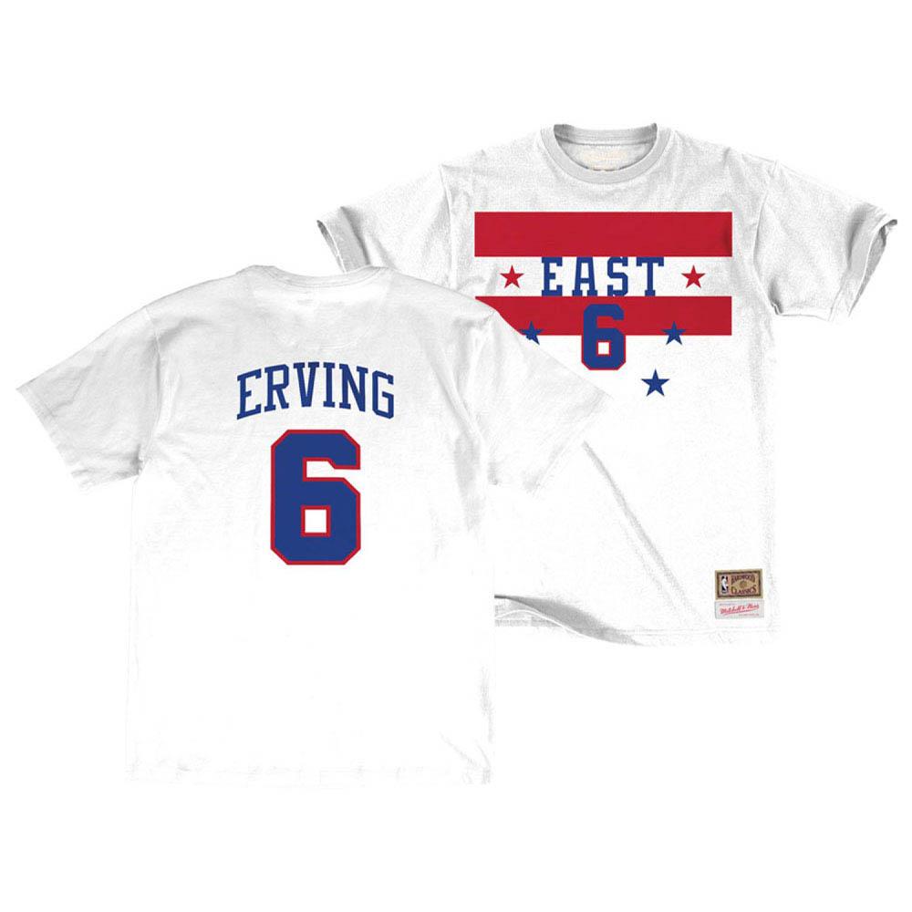 お取り寄せ お取り寄せ NBA ジュリアス・アービング Tシャツ オールスターゲーム 1980 ネーム&ナンバー Mitchell & Ness ホワイト