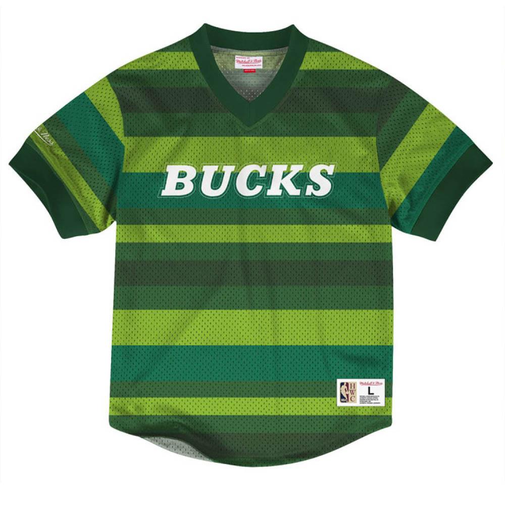 お取り寄せ お取り寄せ NBA バックス Tシャツ キッキング イット ワードマーク メッシュ ミッチェル&ネス/Mitchell & Ness グリーン