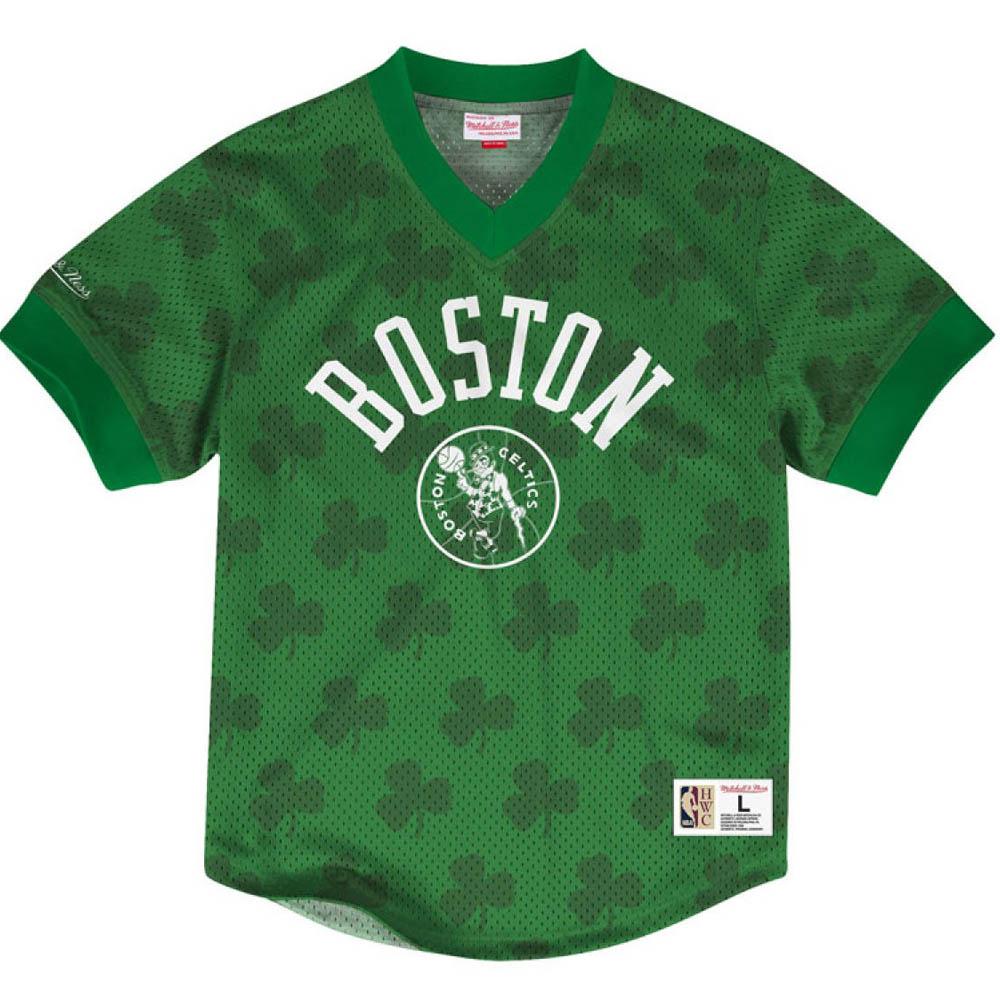 お取り寄せ お取り寄せ NBA セルティックス Tシャツ キッキング イット ワードマーク メッシュ ミッチェル&ネス/Mitchell & Ness グリーン