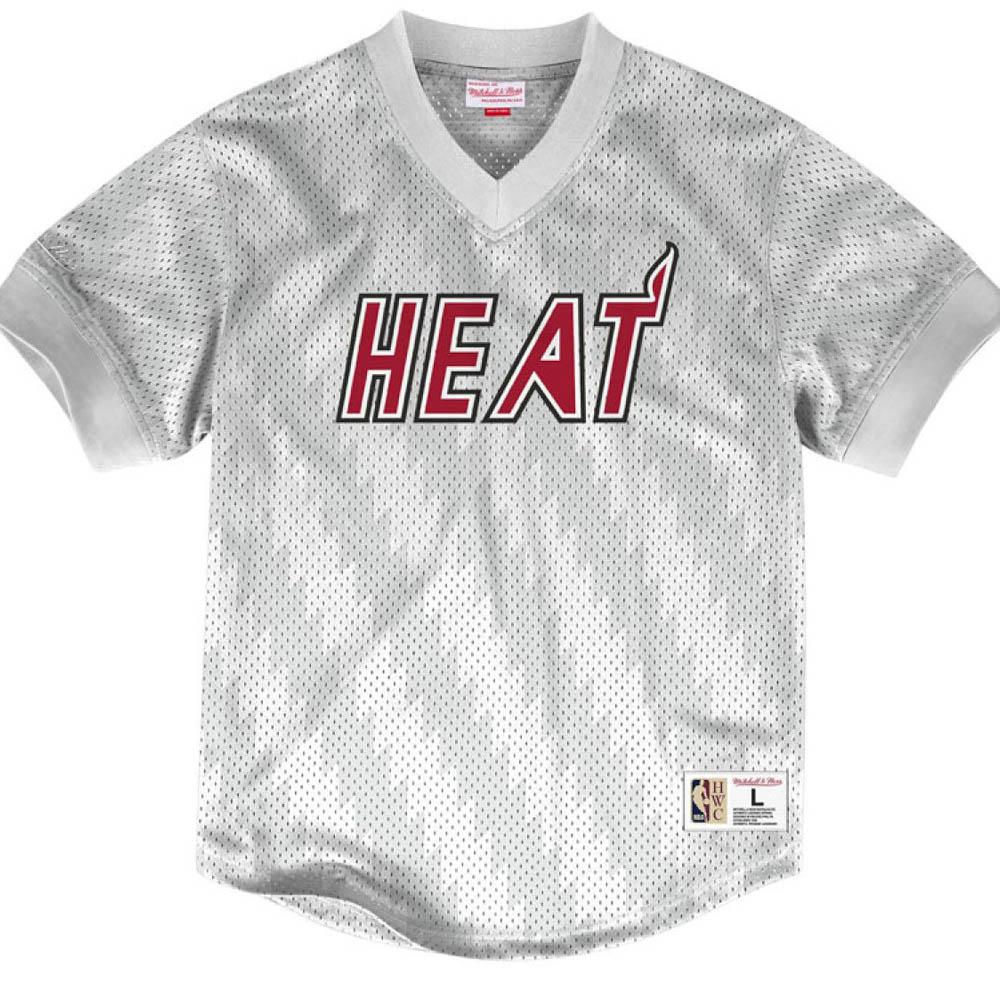 お取り寄せ お取り寄せ NBA ヒート Tシャツ キッキング イット ワードマーク メッシュ ミッチェル&ネス/Mitchell & Ness ホワイト