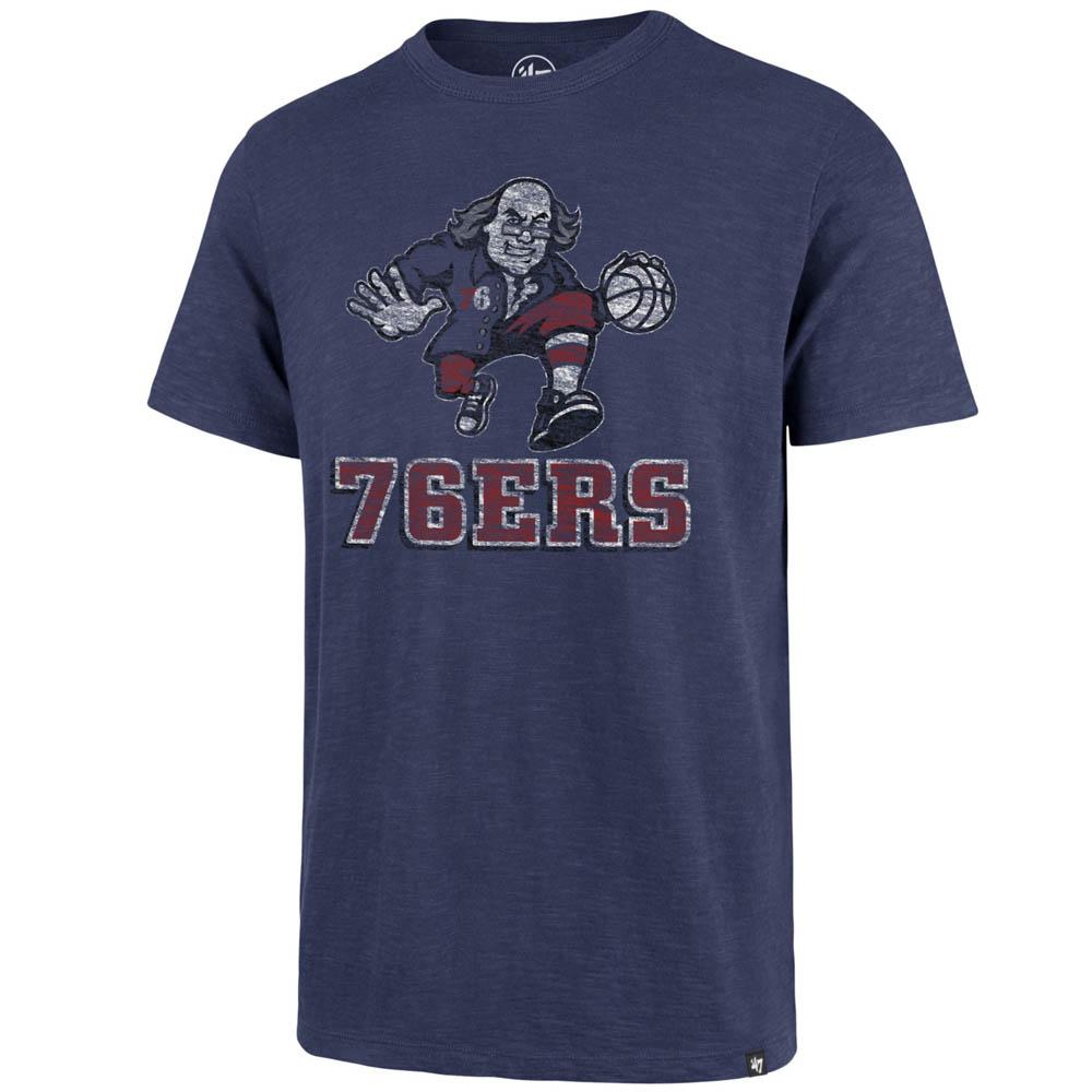 お取り寄せ お取り寄せ NBA 76ers Tシャツ スクラム プライマリーロゴ 47 Brand