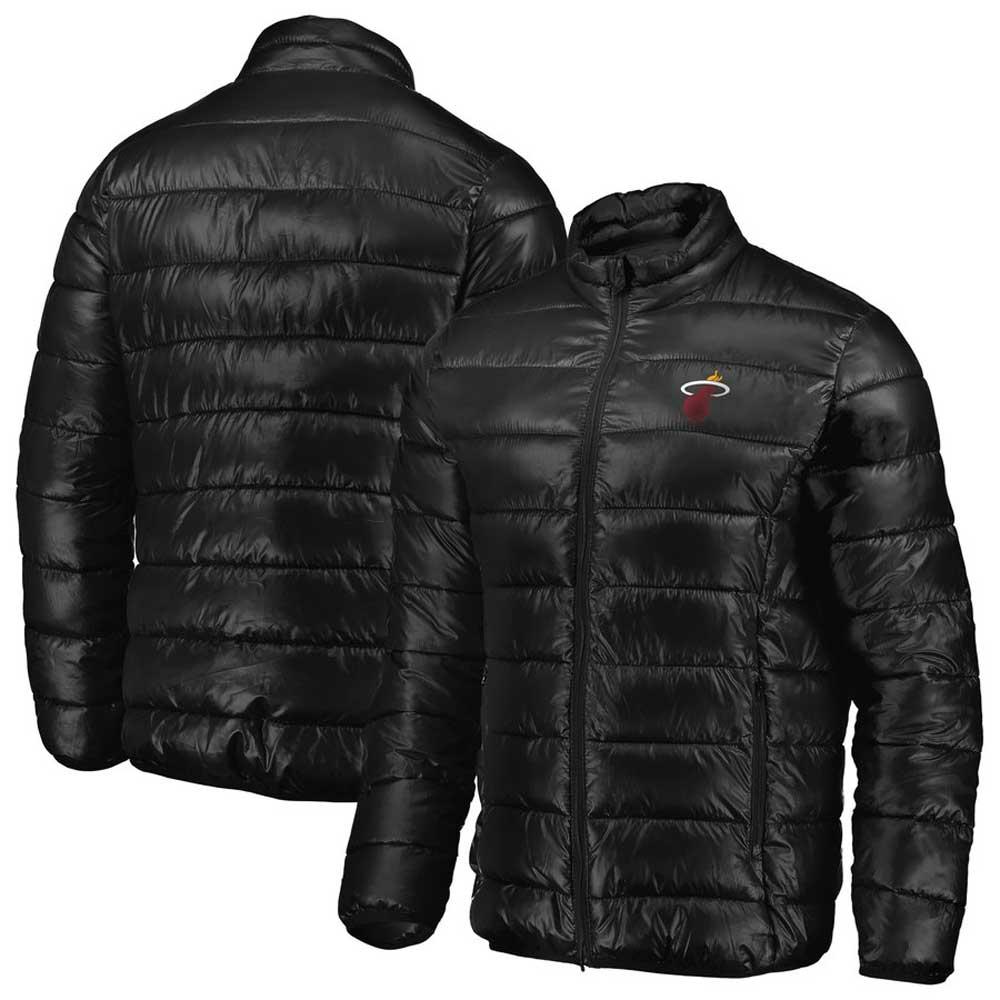 NBA ヒート ジャケット/アウター ポリフィル パファー メンズ ブラック