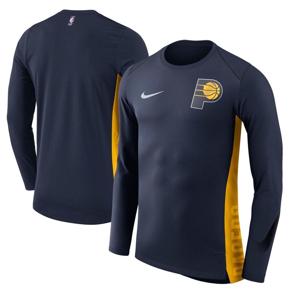 NBA ペイサーズ ロングTシャツ エリート シューター パフォーマンス メンズ ナイキ/Nike ネイビー