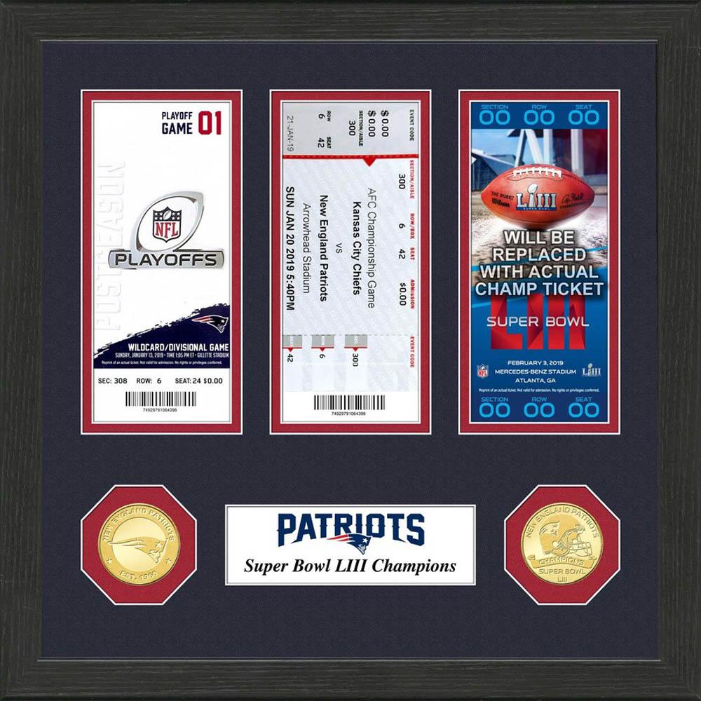 NFL ペイトリオッツ 第53回スーパーボウル 優勝記念 コイン&チケット コレクション The Highland Mint