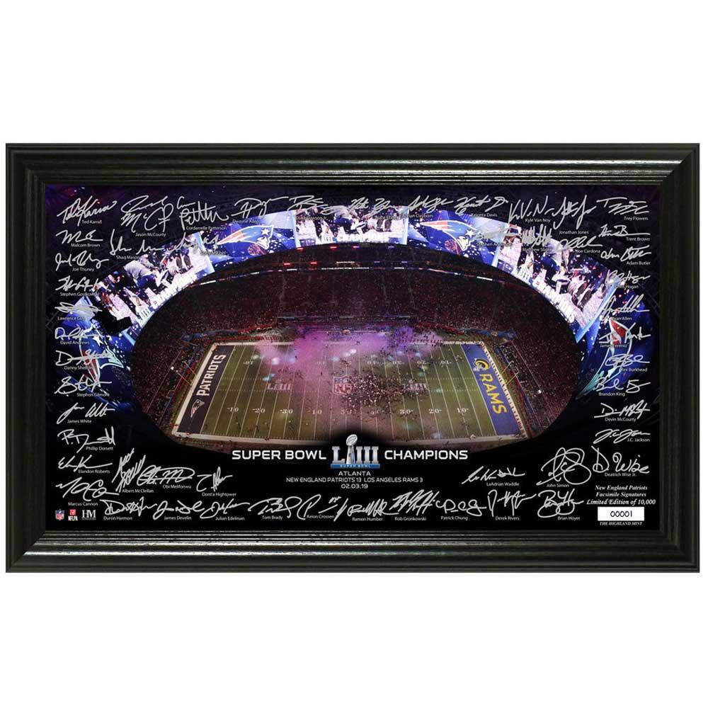 NFL ペイトリオッツ 第53回スーパーボウル 優勝記念 シグネチャー グリディロン パノラミック The Highland Mint