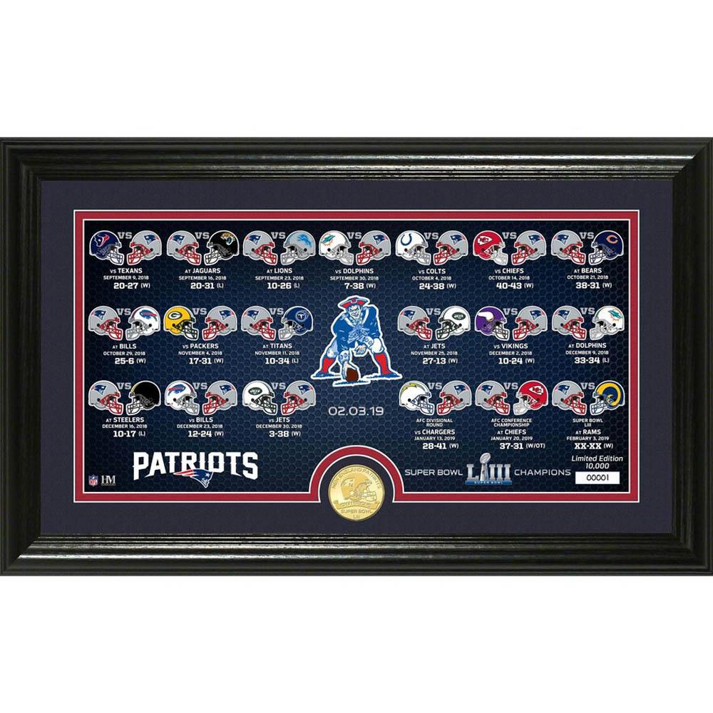 NFL ペイトリオッツ 第53回スーパーボウル 優勝記念 ブロンズコイン&パノラミックフォト コレクション The Highland Mint