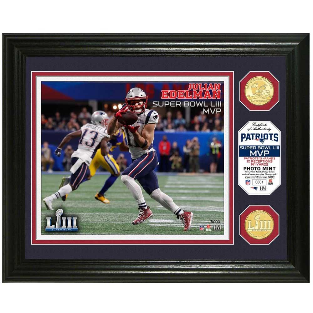 NFL ペイトリオッツ ジュリアン・エデルマン 第53回スーパーボウル 優勝記念 MVP ブロンズコイン フォトミント