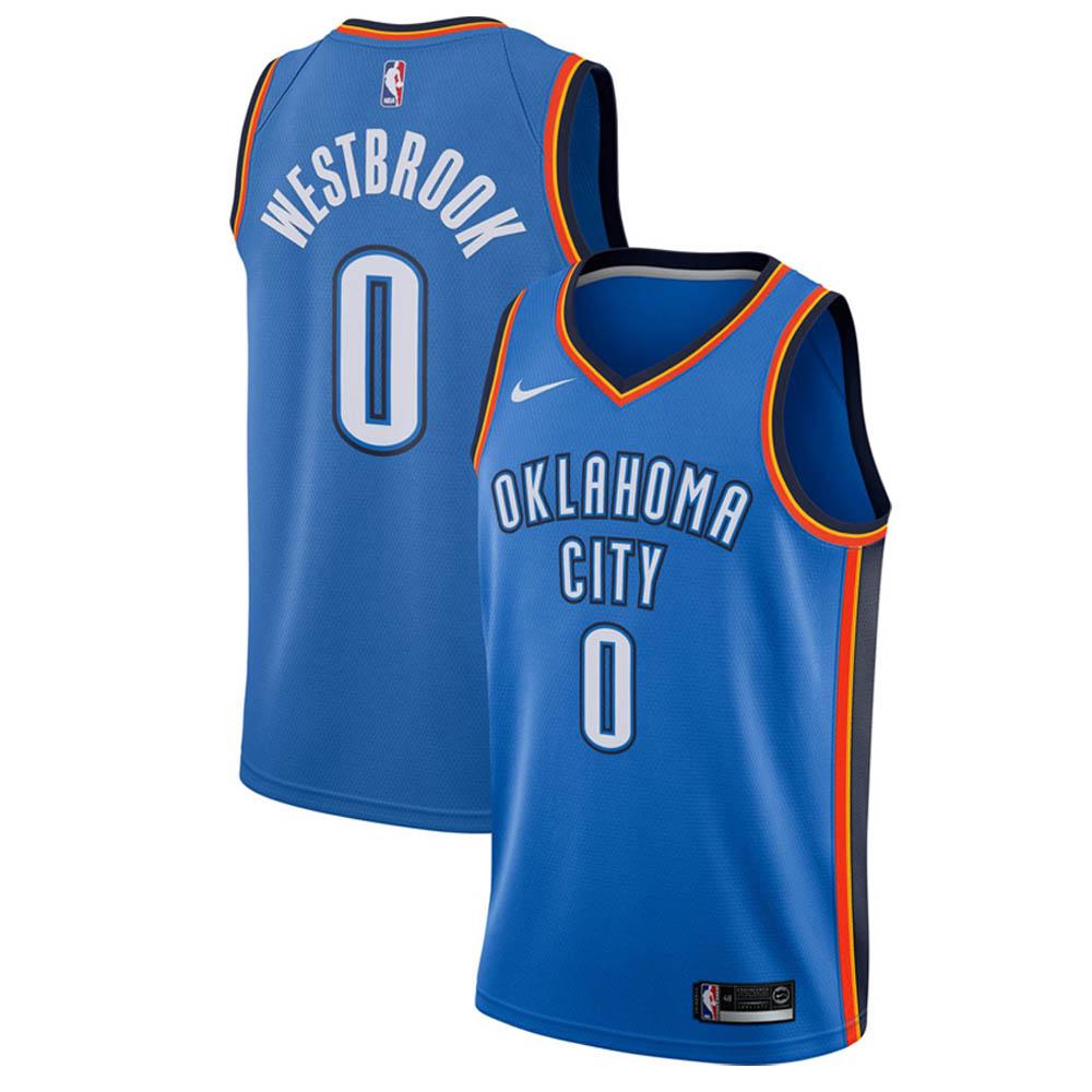 NBA サンダー ラッセル・ウェストブルック ユニフォーム/ジャージ スウィングマン ナイキ/Nike ブルー 864497-403