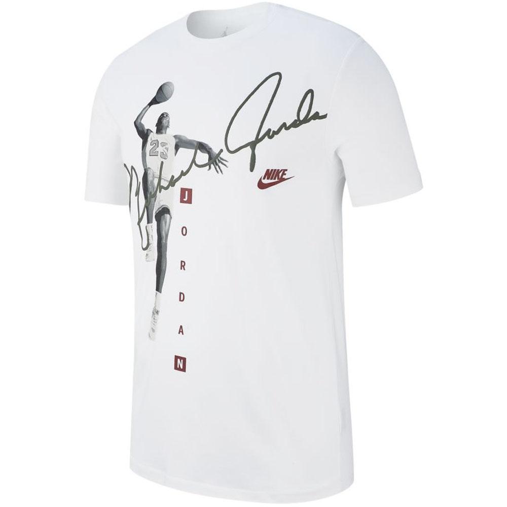 nouveaux styles f1f87 1c454 Nike Jordan /NIKE JORDAN T-shirt photo signature white AO0687-100