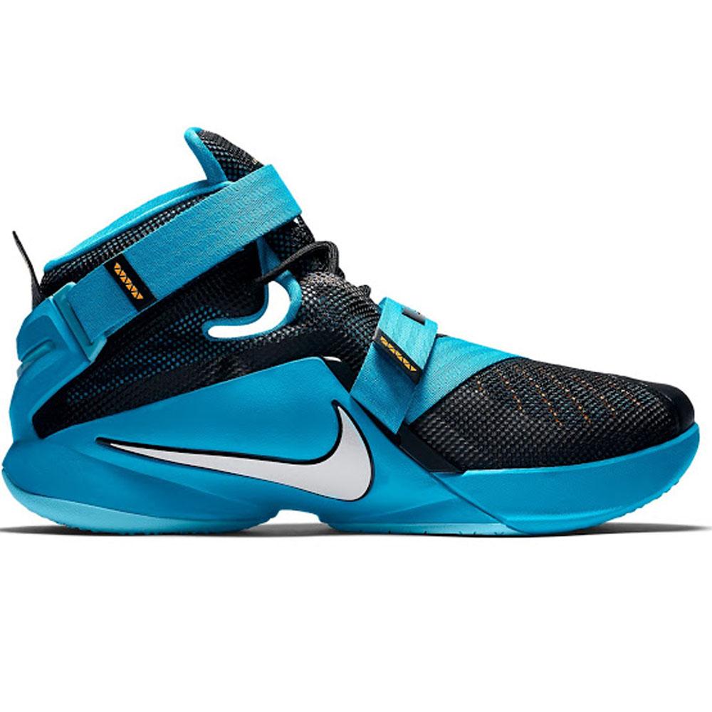 best service 6e8ef be16d LEBRON Revlon James shoes / sneakers soldier 9 Nike /Nike black / white /  blue 749,417-014