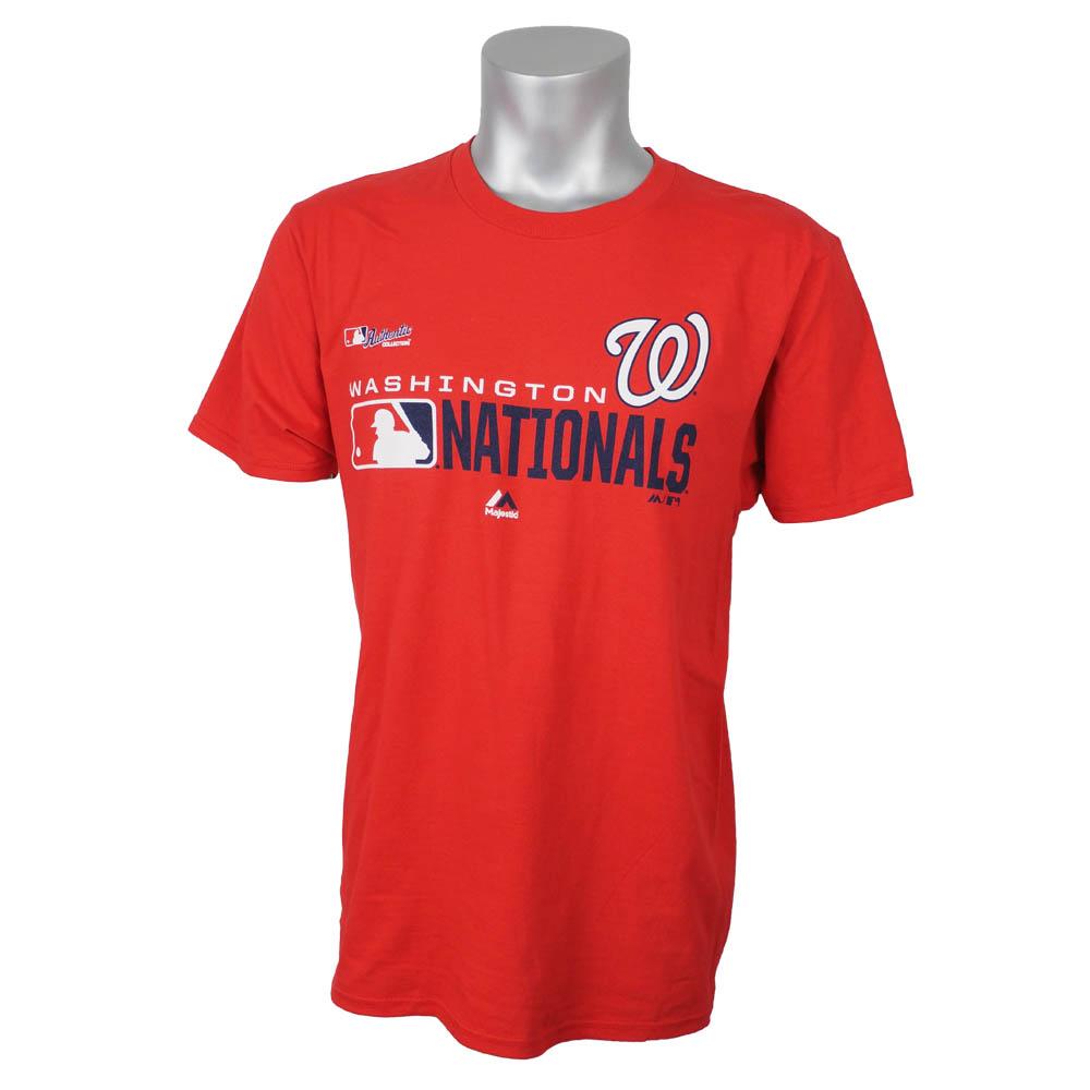 ワールドシリーズ進出 MLB ナショナルズ Tシャツ 選手着用 2019 メンズ マジェスティック/Majestic レッド【1910価格変更】【1112】