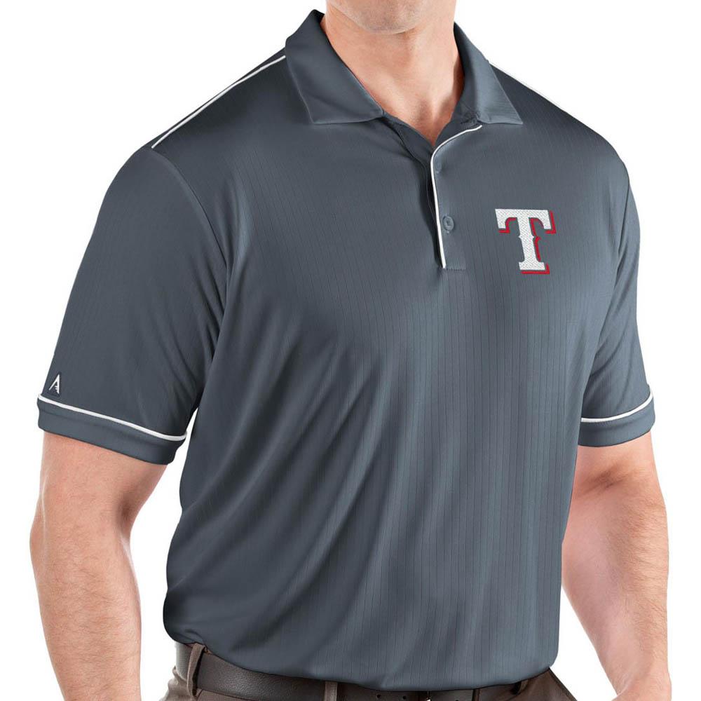 MLB レンジャーズ ポロシャツ サルート パフォーマンス メンズ Antigua グレー