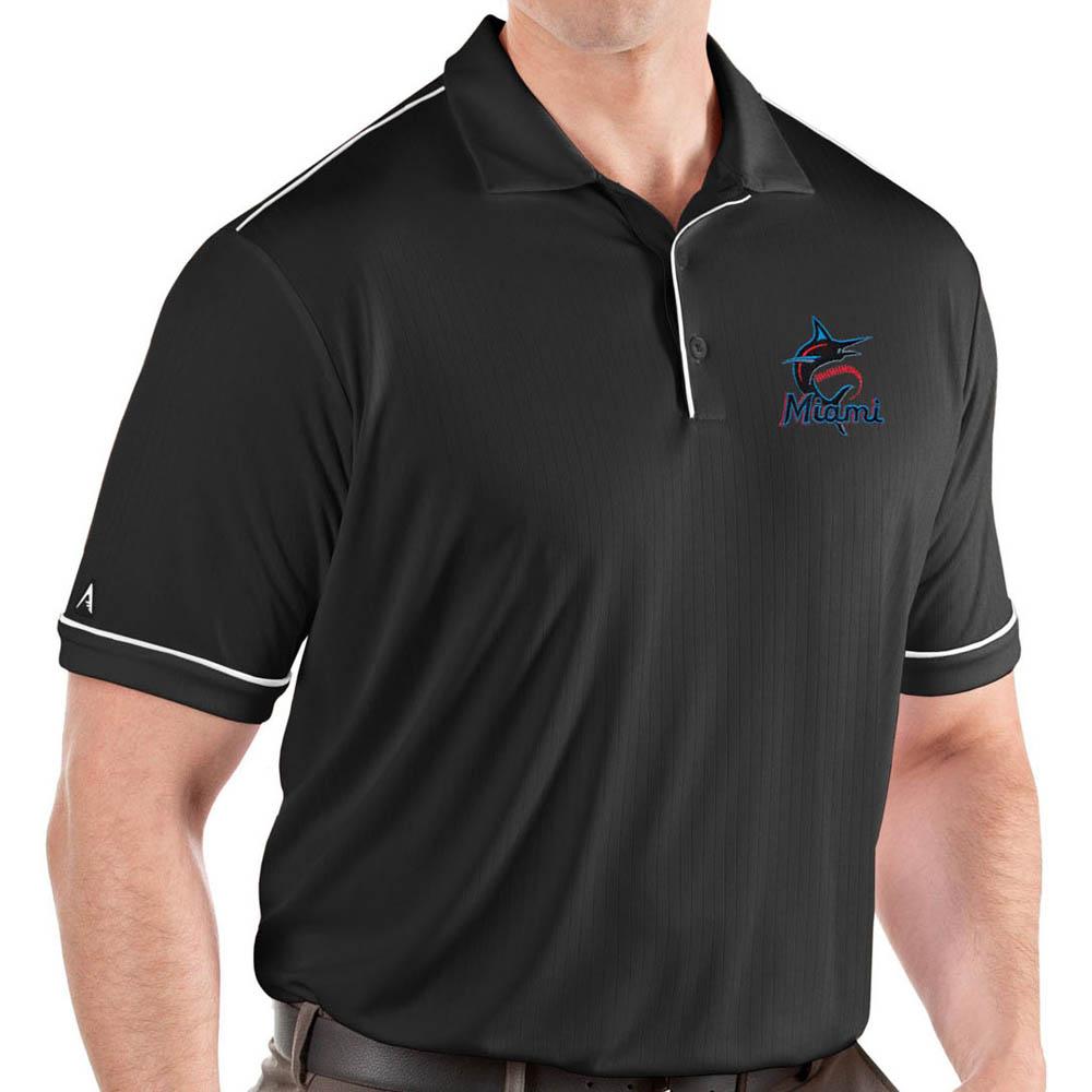 MLB マーリンズ ポロシャツ サルート パフォーマンス メンズ Antigua ブラック