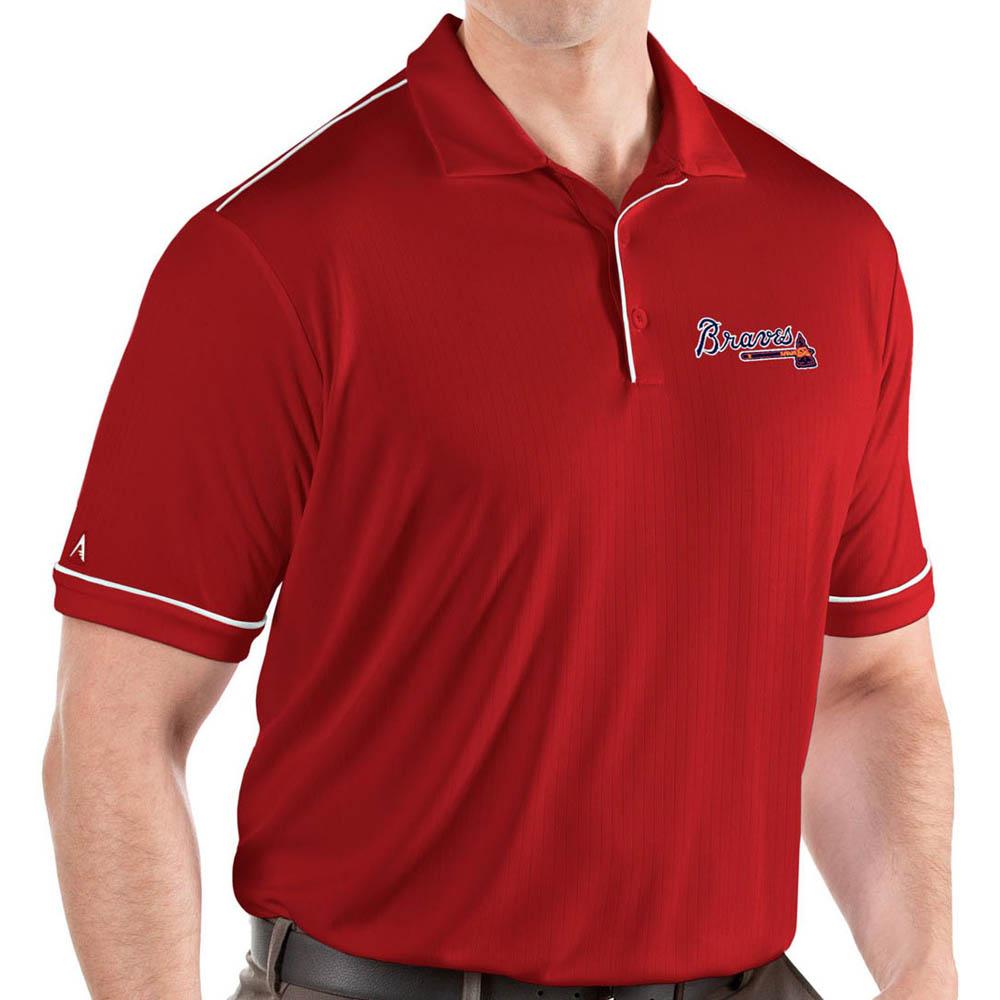 MLB ブレーブス ポロシャツ サルート パフォーマンス メンズ Antigua レッド