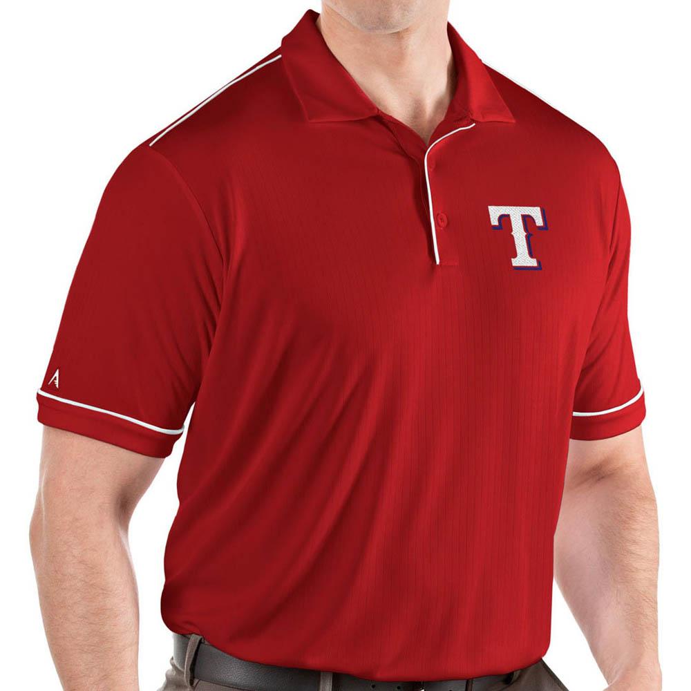 MLB レンジャーズ ポロシャツ サルート パフォーマンス メンズ Antigua レッド