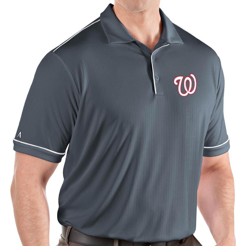 お取り寄せ MLB ナショナルズ ポロシャツ サルート パフォーマンス メンズ Antigua グレー