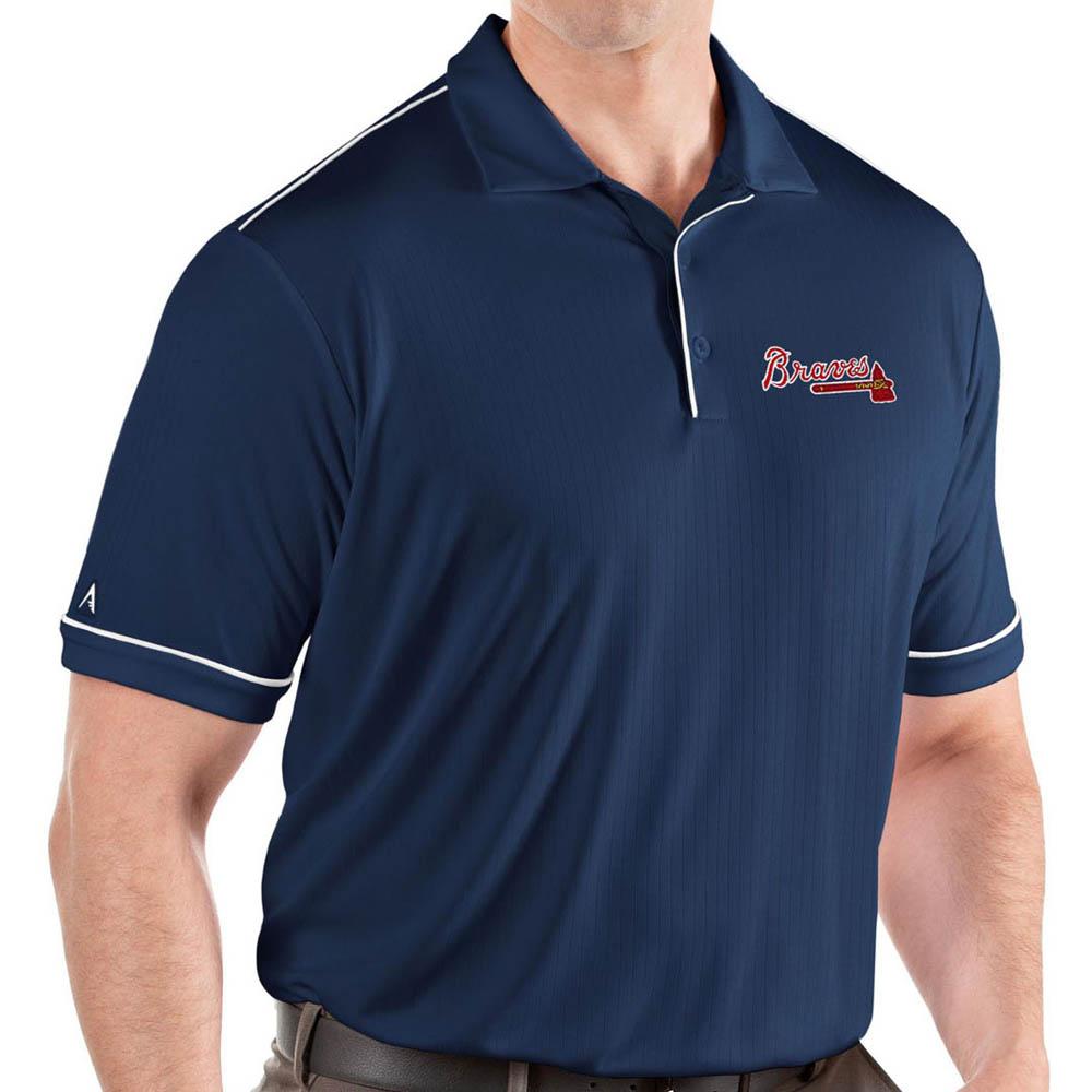 お取り寄せ MLB ブレーブス ポロシャツ サルート パフォーマンス メンズ Antigua ネイビー