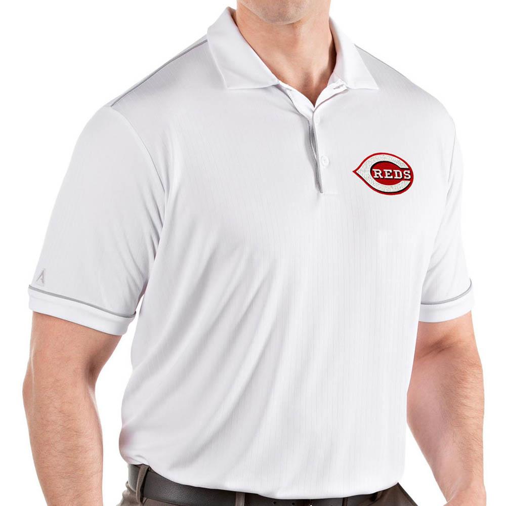 お取り寄せ MLB レッズ ポロシャツ サルート パフォーマンス メンズ Antigua ホワイト