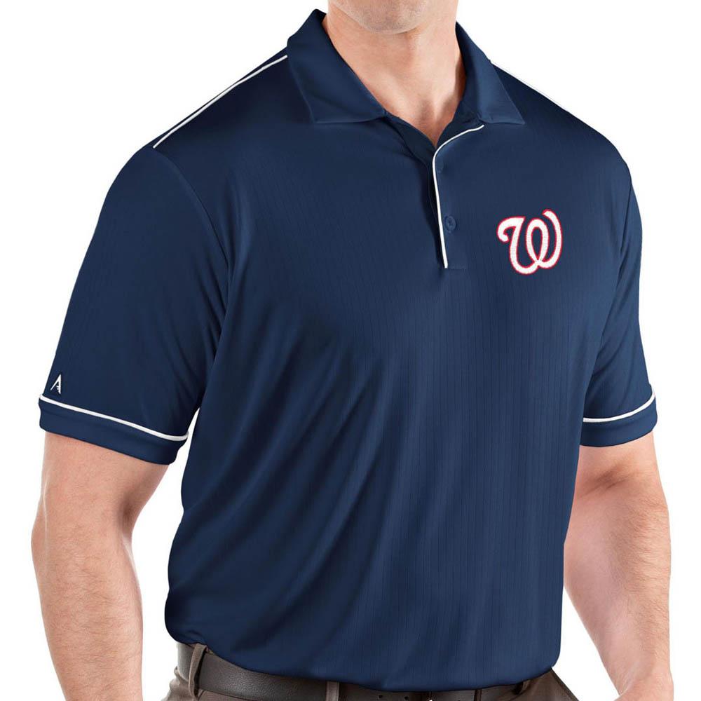 お取り寄せ MLB ナショナルズ ポロシャツ サルート パフォーマンス メンズ Antigua ネイビー