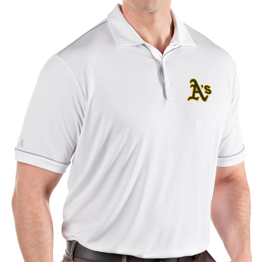MLB アスレチックス ポロシャツ サルート パフォーマンス メンズ Antigua ホワイト