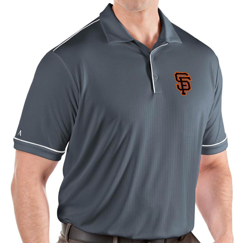 MLB ジャイアンツ ポロシャツ サルート パフォーマンス メンズ Antigua グレー