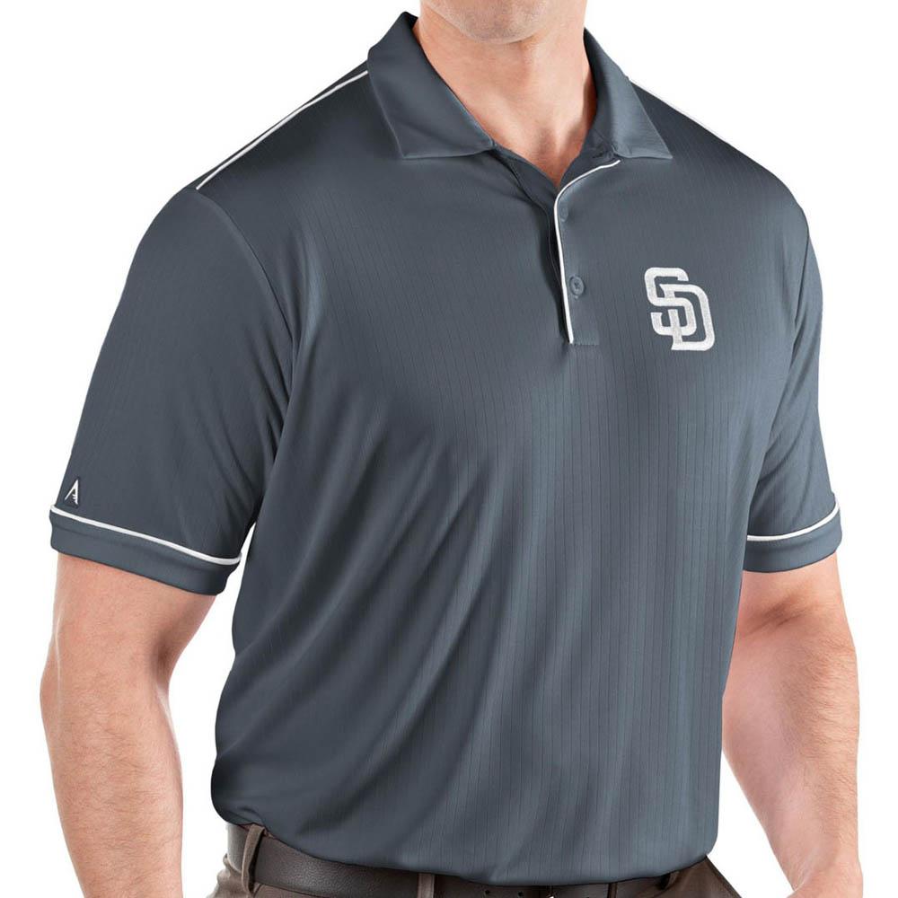 お取り寄せ MLB パドレス ポロシャツ サルート パフォーマンス メンズ Antigua グレー