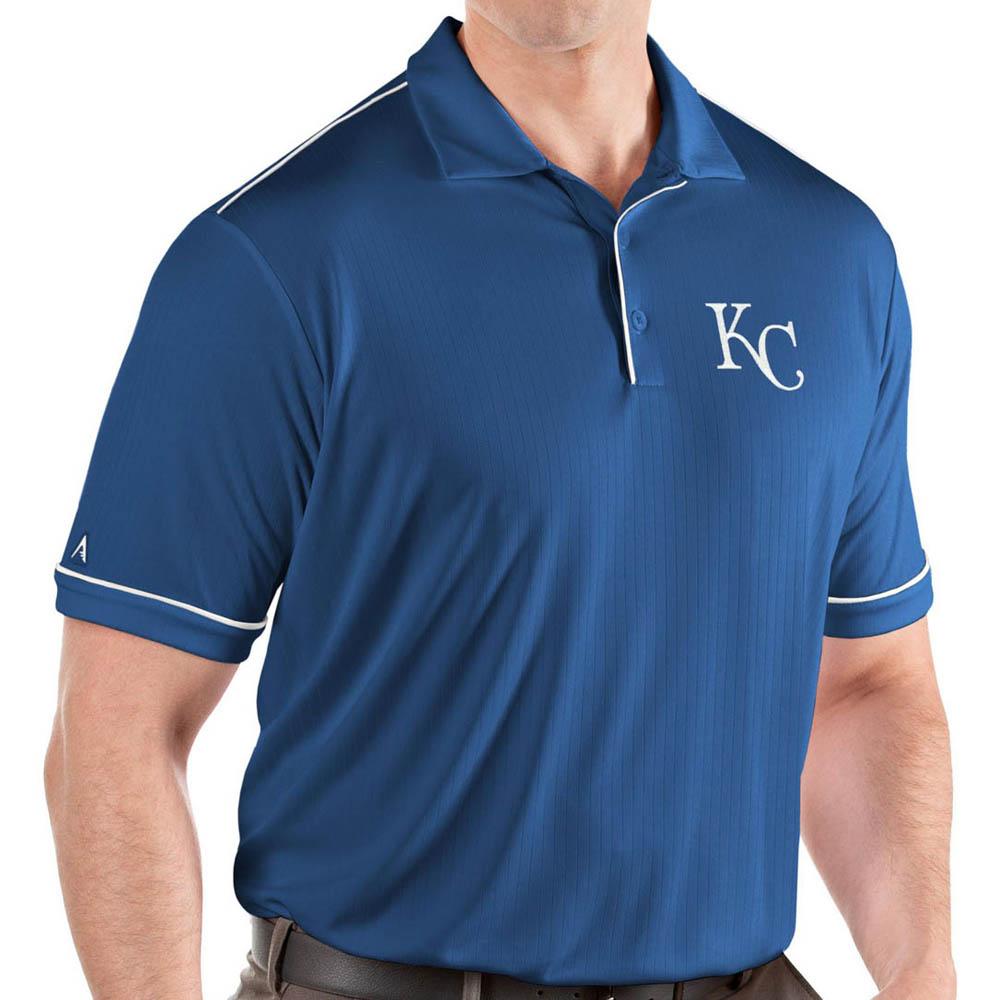 MLB ロイヤルズ ポロシャツ サルート パフォーマンス メンズ Antigua ロイヤル