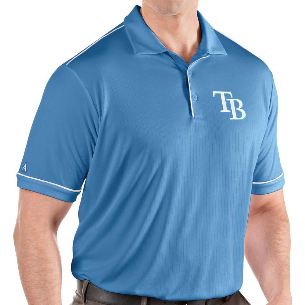 MLB レイズ ポロシャツ サルート パフォーマンス メンズ Antigua ブルー