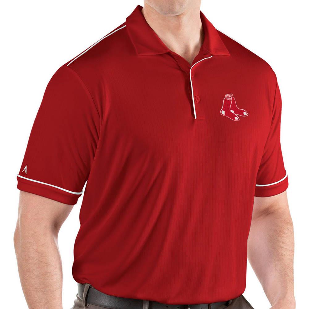 MLB レッドソックス ポロシャツ サルート パフォーマンス メンズ Antigua レッド