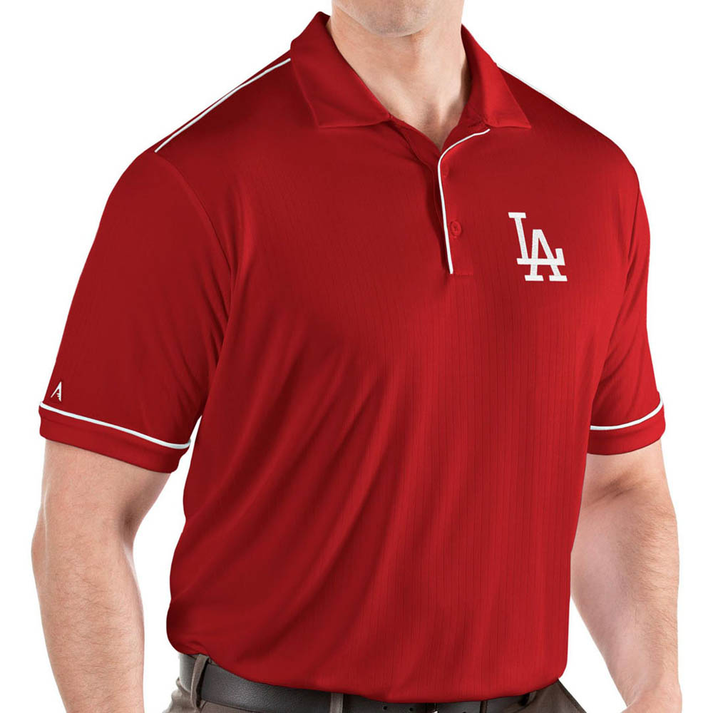 MLB ドジャース ポロシャツ サルート パフォーマンス メンズ Antigua レッド