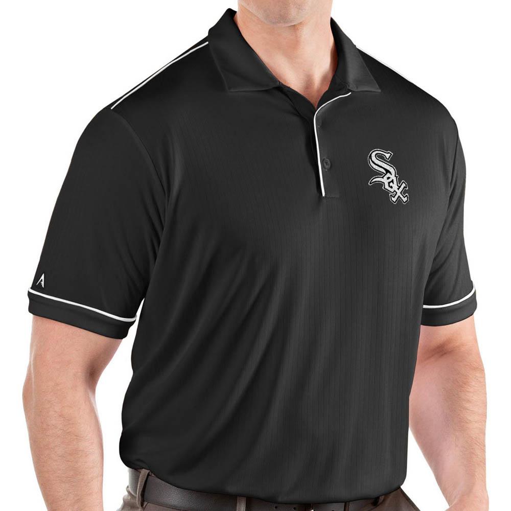 MLB ホワイトソックス ポロシャツ サルート パフォーマンス メンズ Antigua ブラック