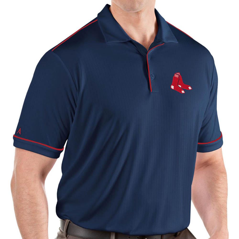 MLB レッドソックス ポロシャツ サルート パフォーマンス メンズ Antigua ネイビー
