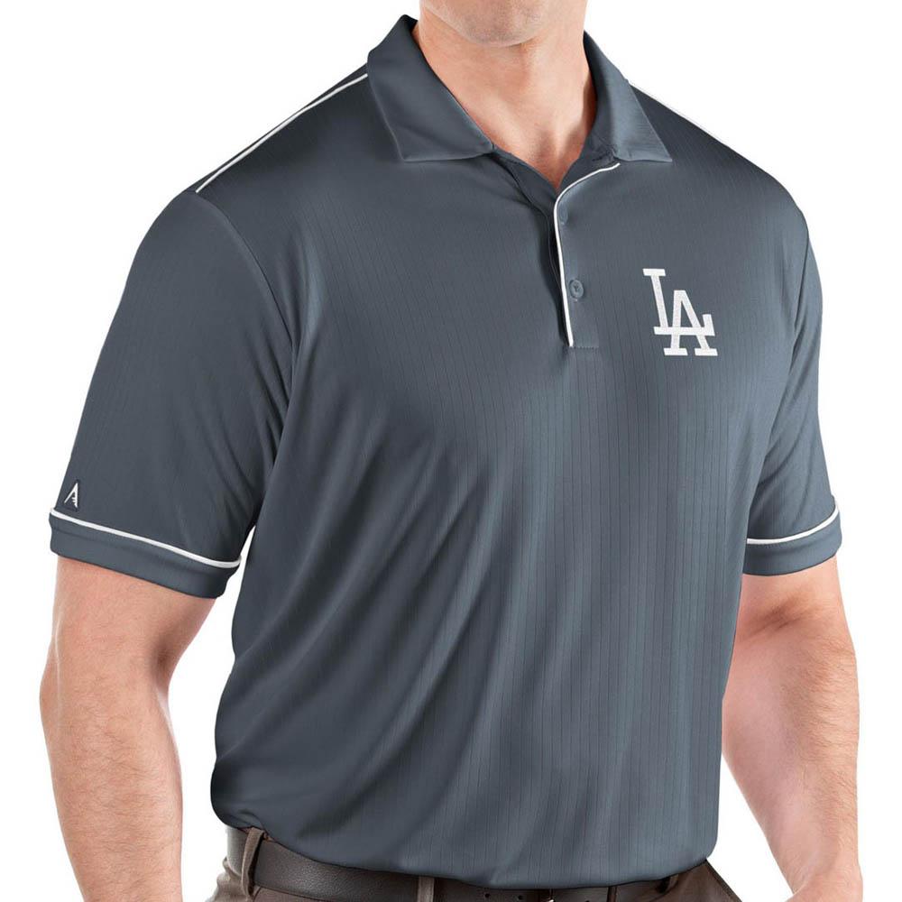 MLB ドジャース ポロシャツ サルート パフォーマンス メンズ Antigua グレー