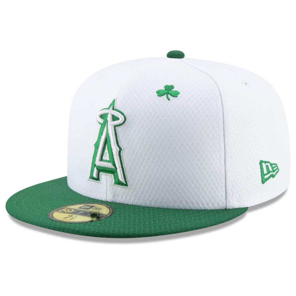 お取り寄せ MLB エンゼルス キャップ/帽子 セント・パトリック・デー 2019 59FIFTY ニューエラ/New Era ホワイト