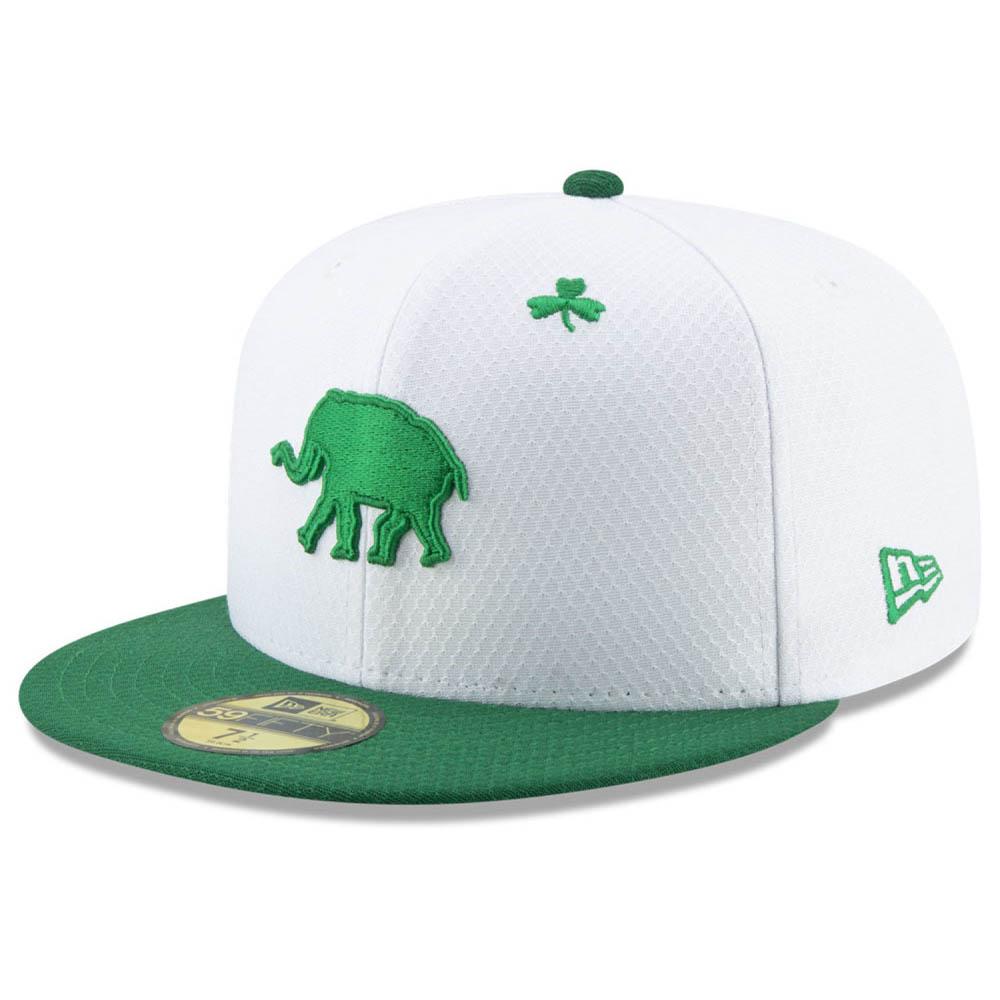 お取り寄せ MLB アスレチックス キャップ/帽子 セント・パトリック・デー 2019 59FIFTY ニューエラ/New Era ホワイト