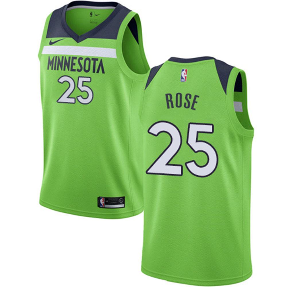 san francisco 5f837 dc7c9 NBA Timberwolves Derrick Rose uniform / jersey statement edition swing  manno smart /Nike green