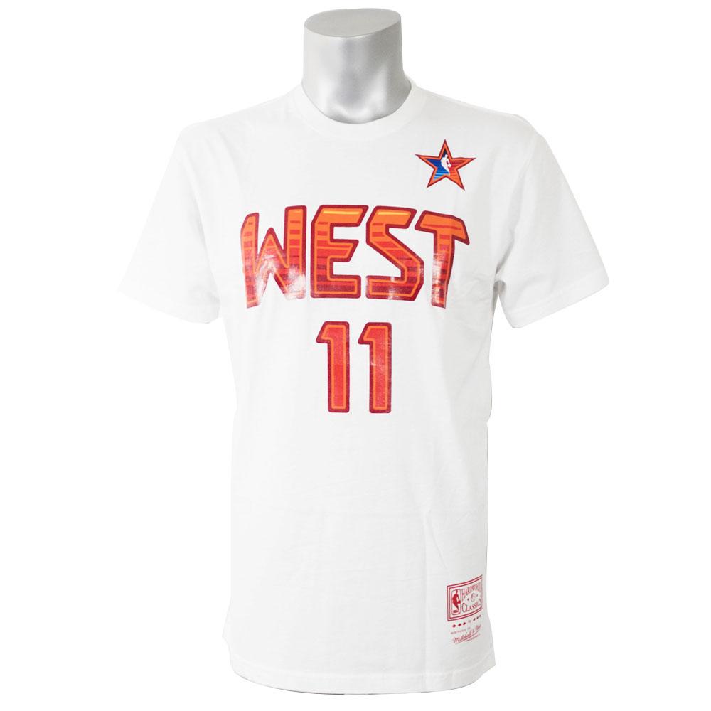 NBA Tシャツ ウエスト ヤオ・ミン 2009 オールスターゲーム プレイヤー ミッチェル&ネス/Mitchell & Ness ホワイト【1911NBAt】