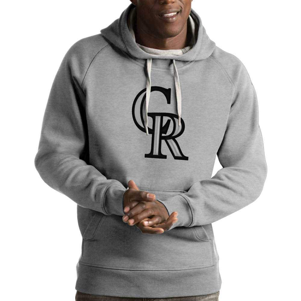 MLB ロッキーズ パーカー/フーディー ビクトリー プルオーバー Antigua グレー