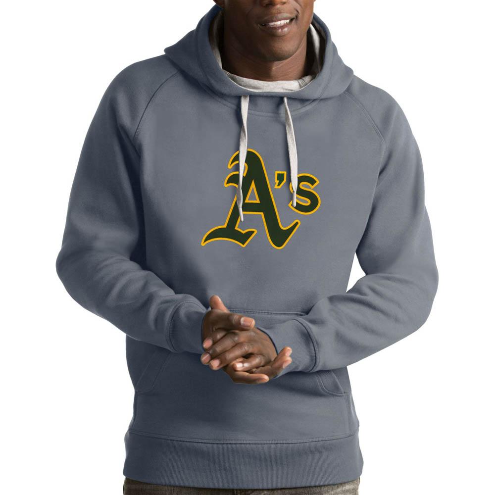 MLB アスレチックス パーカー/フーディー ビクトリー プルオーバー Antigua グレー